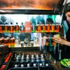 Bulleit Bourbon's Betabrand Visit with Tailgate Trailer Woody!