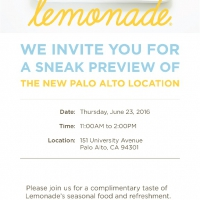Lemonade Opens in Palo Alto -- And You Can Taste it First!